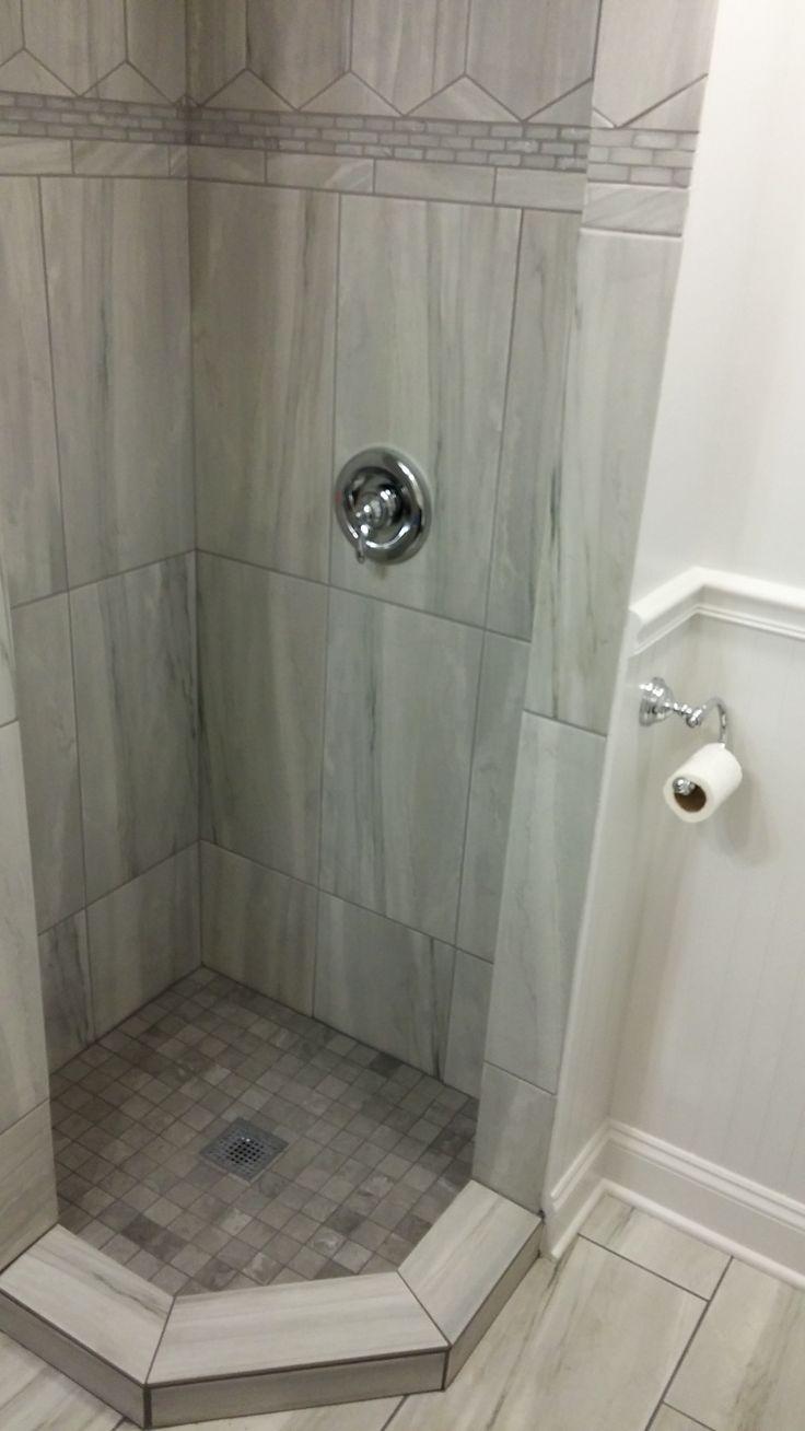 neoangle tile shower  bathroom remodel master small
