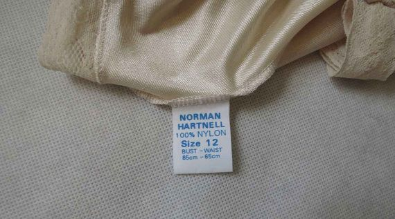 Norman Hartnell Nude Slip 1970s by LouisaAmeliaJane on Etsy