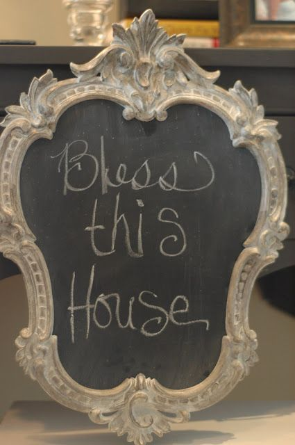 Diy Making Chalkboards Out Of Thrifted Frames Love This