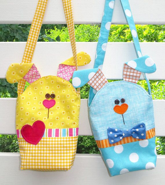 Easy Bunny Bags  PDF Pattern by TheRedBootQuiltCo on Etsy