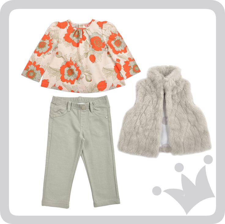 ¡Look del día! Flores color naranja y el verde pasto de las praderas suizas inspiraron este look. #epkmegusta