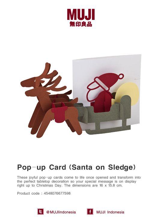 Joyful pop up card -Santa Claus on Sledge-