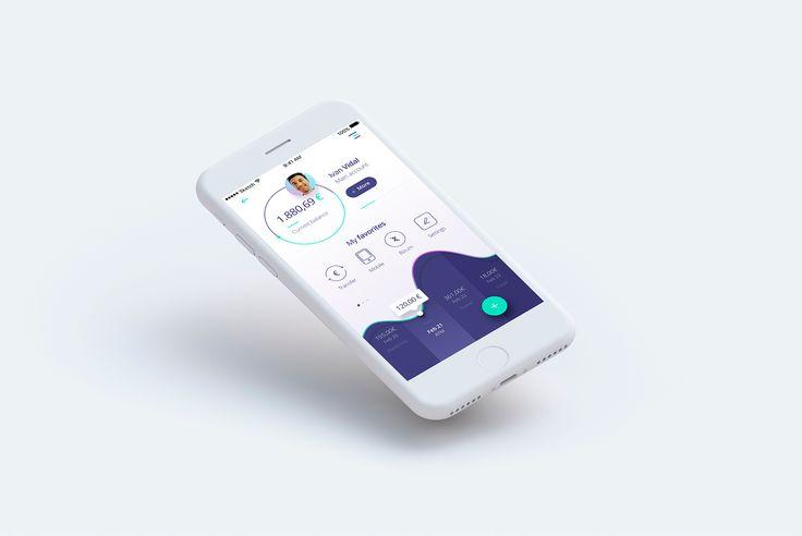 Banking app concept big