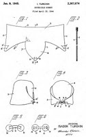 Back in the days before walk in closets there was a hat storage issue. Hats that could be stored flat became fashionable.  4 patterns from the patent office. [inspiration]