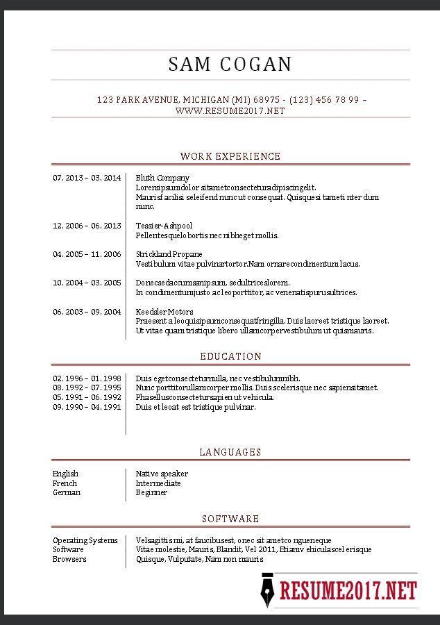 resume format template 2017 format resume template resume