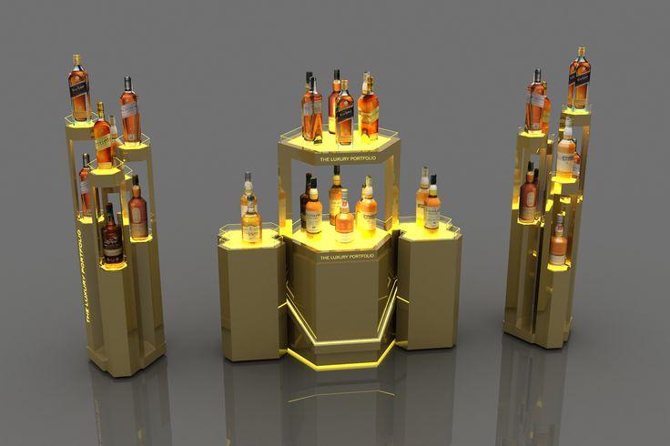 Johnnie Walker Gold Label Stand-Display & Bar Designs