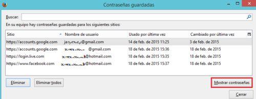 Recuperar tu nombre de usuario y/o contraseña de Facebook, Gmail, Hotmail, Yahoo