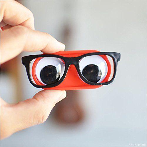 Geeky Eyes Kontaktlinsenbehälter - Mit Glotzaugen und Geek-Brille - Geschenkideen für Frauen - (*Partner-Link)