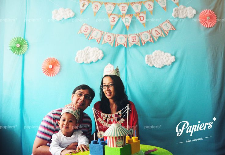 Party favors and decorations by Papiers*  #papiers #birthday #party #circus #kids #colorful #backdrop #partyfavor #decoration #personalized #design #customized