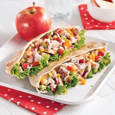Pita+au+poulet,+pomme,+cheddar+et+canneberges+-+Recettes+-+Cuisine+et+nutrition+-+Pratico+Pratique