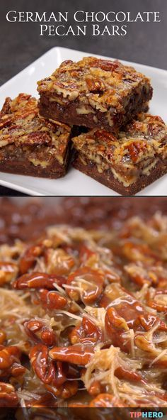 """Here's a holiday recipe that combines the """"old world"""" and the """"new world"""" in a treat that's perfect for Christmas, New Year's, next Thanksgiving and even Valentine's Day: German Chocolate Pecan Bars! A delightful dessert that blends the tastes of a traditionally European chocolate cake with an all-American pecan pie. Delish! Click to see how it's done."""