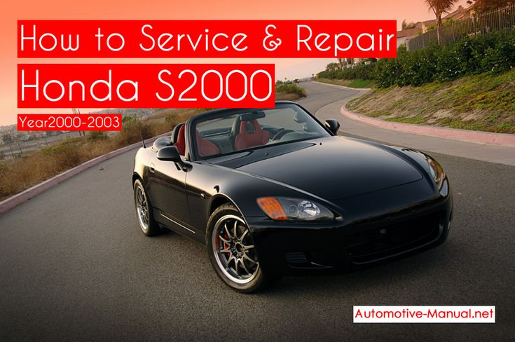 How to Service Repair Honda S2000 2000-2003 PDF Manual