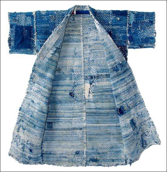Antique Japanese Indigo Sashiko Sakiori Fisherman's Jacket by kimonboy, via Flickr