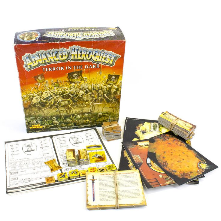 Vintage MB Heroquest: Advanced Quest by Games Workshop, 1991, VGC