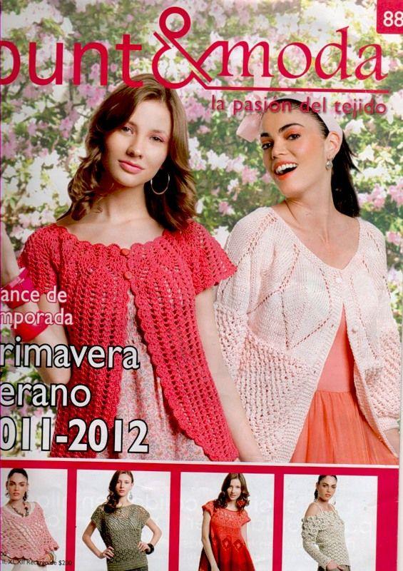 Moda Knitting Books : Punto amp moda crochet tops etc