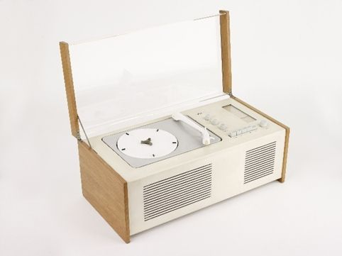Phonosuper SK 5 record player, 1956. Designed by Hans Gugelot (1920-1965) and Dieter Rams (1932-). Manufactured by Braun A.G.