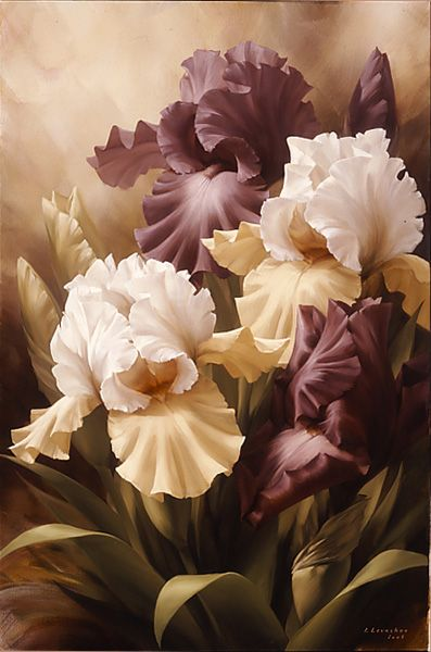 beautiful flower painting by LEVASHOV. Love it