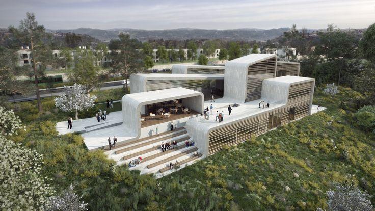 O escritórioNeuman Hayner Architects, em parceria com o arquiteto Gal Karni, divulgouumaproposta para uma nova escola de dança e música em...