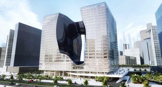 """4. ME Dubai by Meliá (Dubai, Emiratos Árabes). Estábamos tardando en viajar a Dubai en donde no podría faltar la presencia de la arquitecta más celebrity, la ínclita Zaha Hadid. Su cada vez más desbocada imaginación anuncia para el año 2016 la apertura del edificio Opus, publicitado como un edificio """"joya"""" que albergará un hotel marca ME de la cadena Meliá Hotels International. Los interiores prometen un auténtico desfase de formas sinuosas y espacios grandilocuentes."""