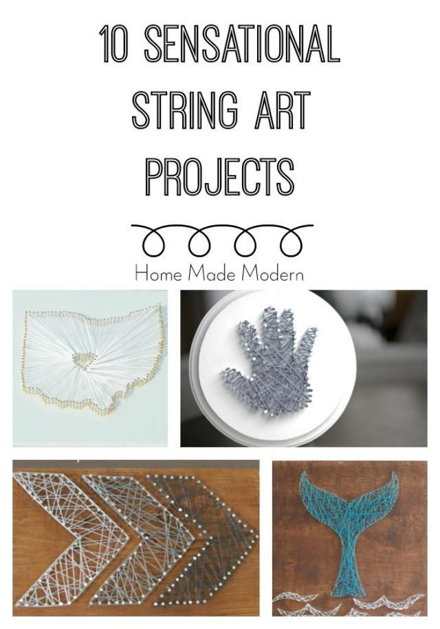 String art is a retro-chic way to add personality and meaning to your walls. This step-by-step tutorial will show you how to make your own string art.: More String Art Projects