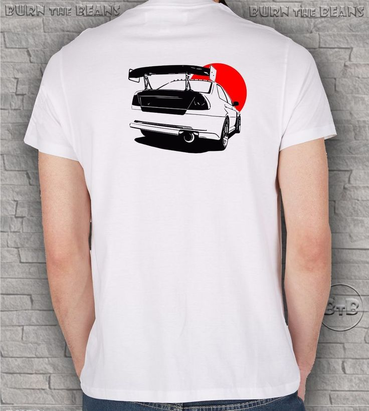 Mitsubishi EVO VI T-shirt tokyo drift lancer  tuning turbo Wakaba JDM tshirt