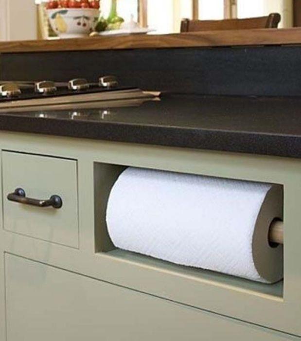 Un hueco especial para el papel de cocina
