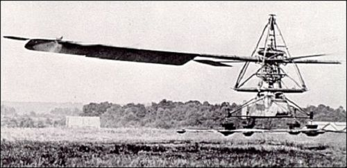 Unul din primele elicoptere; idea au avut-o prima data chinezii, care inventasera o jucarie ce zbura in autorotatie.