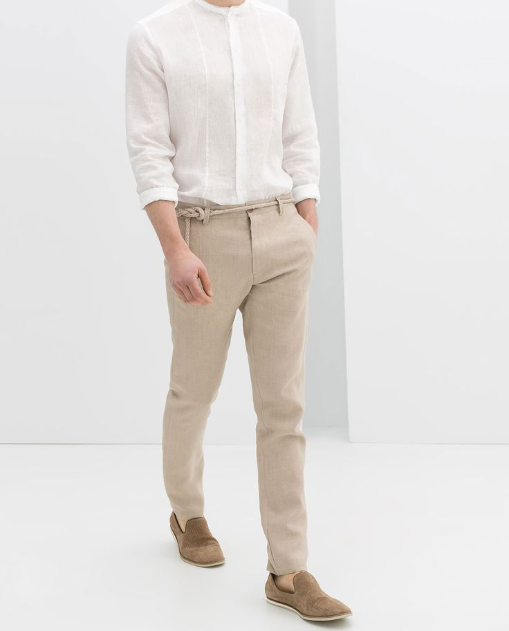 Image 4 of BASIC LINEN SUIT from Zara
