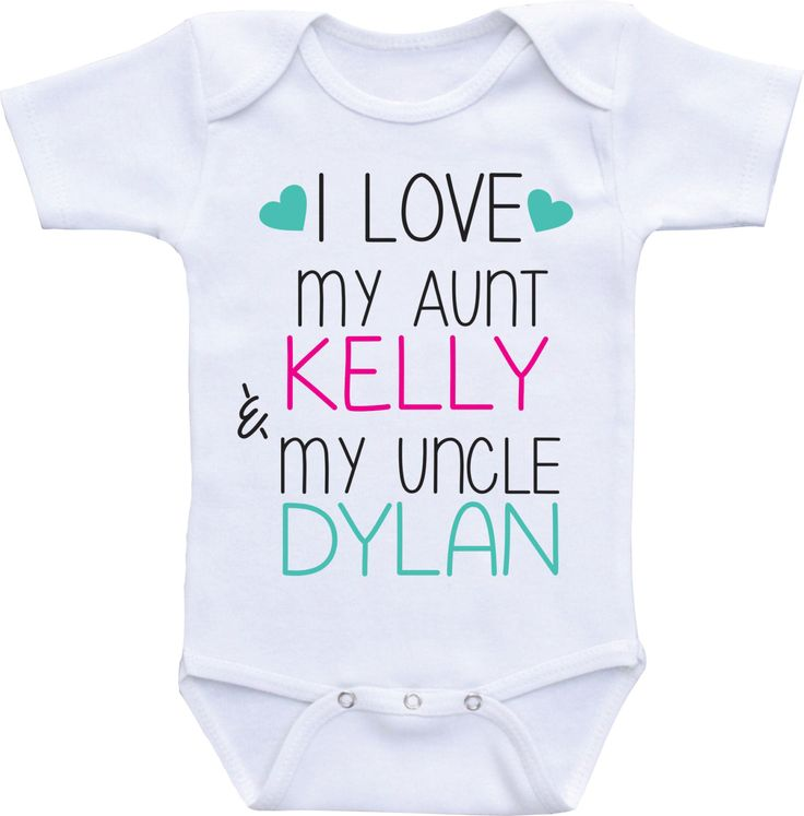 I love my Aunt and Uncle Onesie, Aunt Shirt, I love my Aunt Onesies, My Aunt Loves Me, Uncle and Aunt babyshirt,aunt baby clothes by DAIICHIBANdesigns on Etsy https://www.etsy.com/listing/248793087/i-love-my-aunt-and-uncle-onesie-aunt