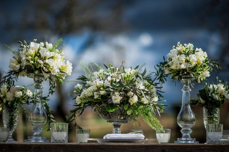 White and green- earthy character for your special day :)