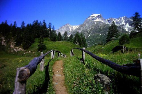 Mt. Cervandone from Crampiolo, Devero Valley, Italian Alps via pixdaus