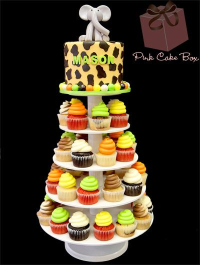 Baby Safari Cupcake Cake Topper Pins