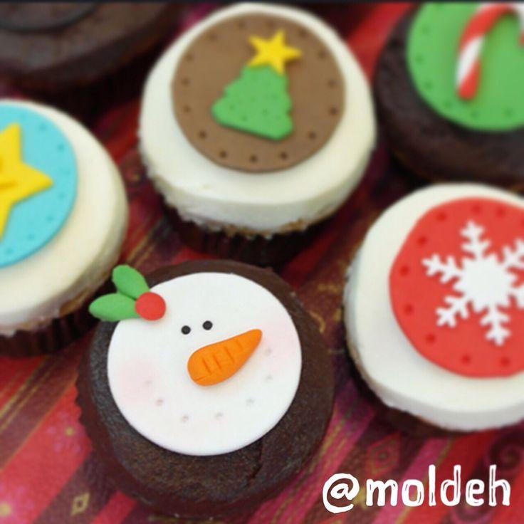 Minicupcakes Navideños '14