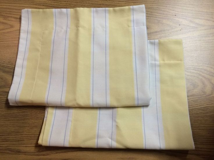 Pillowcases Shams Yellow White Stripe Martha Stewart Standard Size #MarthaStewart #Contemporary