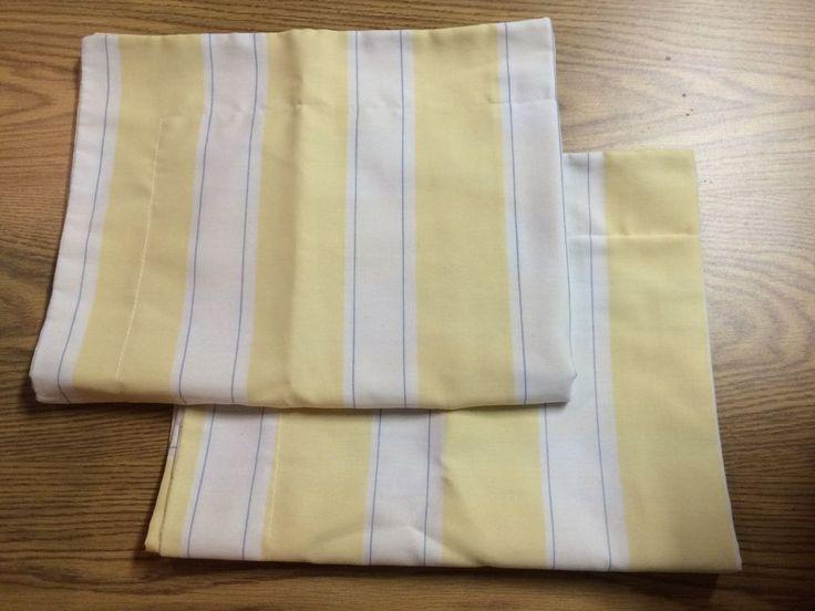 Pillowcases Shams Yellow White Stripe Martha Stewart Standard Size #MarthaStewart #Contemporary