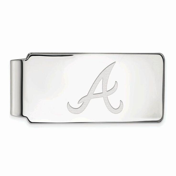 Atlanta Braves Sterling Silver Money Clip