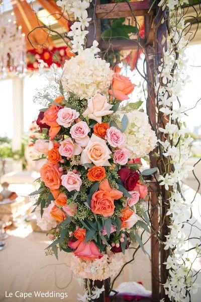 Beautiful ceremony flower decoration.