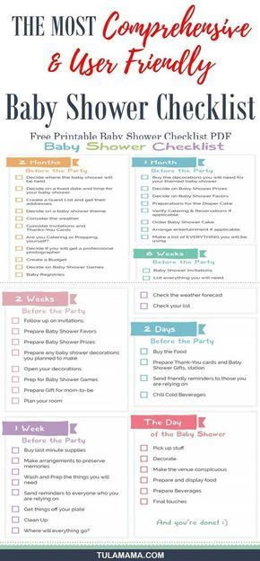 The Only Baby Shower Checklist You Will Need Baby Shower