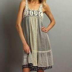 Multicolor Crochet Lace Veil Sleeveless Dress Size Small