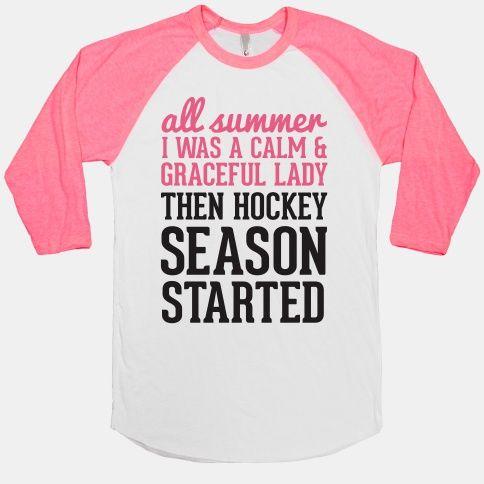 ...Then Hockey Season Started | HUMAN | T-Shirts, Tanks, Sweatshirts and Hoodies