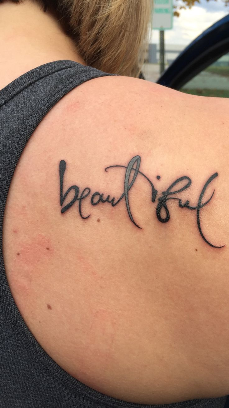 """Brain cancer awareness tattoo as a tribute to my """"Beautiful Grandmother""""."""
