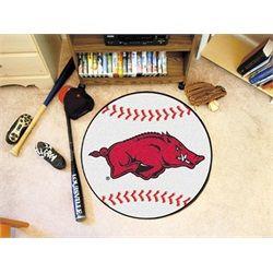 University of Arkansas Razorback Baseball Floor Rug Mat