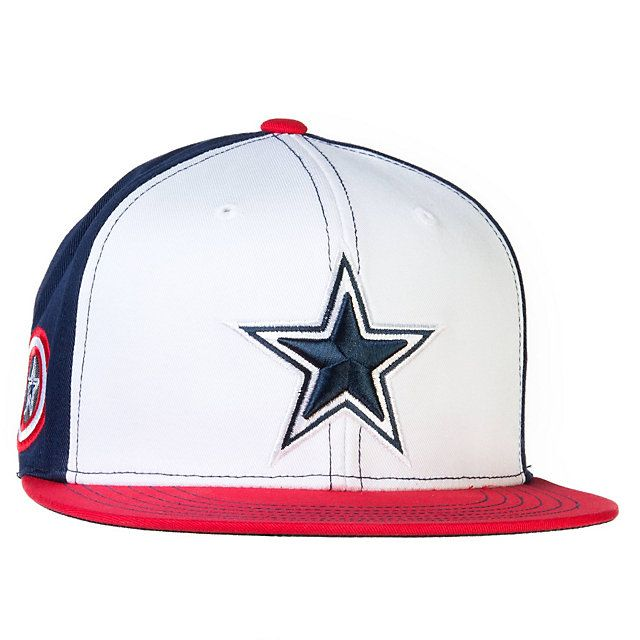 Nfl dallas cowboys marvel captain america hat at shop for Dallas cowboys fishing hat