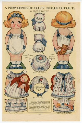 76.2079: A New Series of Dolly Dingle Cut-Outs | paper doll | Paper Dolls | Dolls | National Museum of Play Online Collections | The Strong