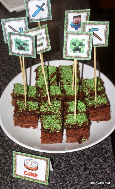 Ingvildsmat.com: Minecraft bursdag uten å slite seg helt ut, mine enkle tips!