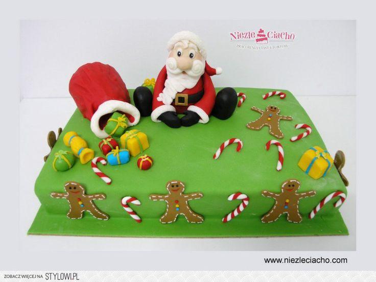 Święty Mikołaj, Mikołaj na torcie, torty dla dzieci, 6 grudnia, prezenty od św. Mikołaja, worek z prezentami, dzieci, Tarnów