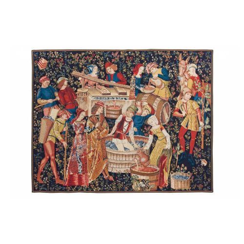 The Winemakers Tapestry is a beautiful hanging tapestry, part of the tapestry collection at English Heritage. Buy the Winemakers Tapestry online at the English Heritage gift shop. International delivery available.