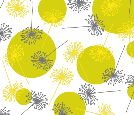 sunny dandilion gold fabric by tailorjane on Spoonflower - custom fabric