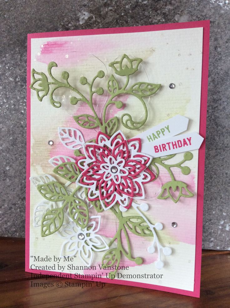 Birthday Card using the new Stampin' Up Watercolour Pencils.