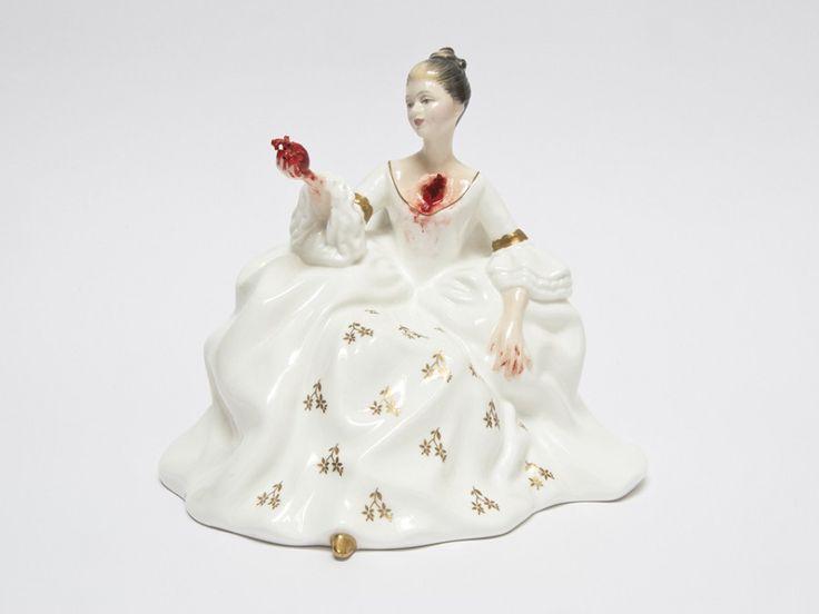 Jessica Harrison | A R T N A U - Lo grotesco siempre queda tan bien con la delicada porcelana. Esta vez nos lo demuestra la artista Jessica Harrison con sus dulces y mutiladas señoritas.